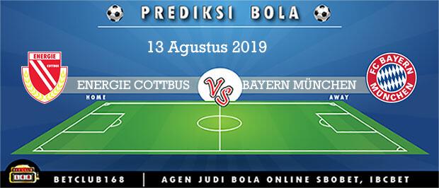 Prediksi ENERGIE COTTBUS Vs BAYERN MÜNCHEN 13 Agustus 2019