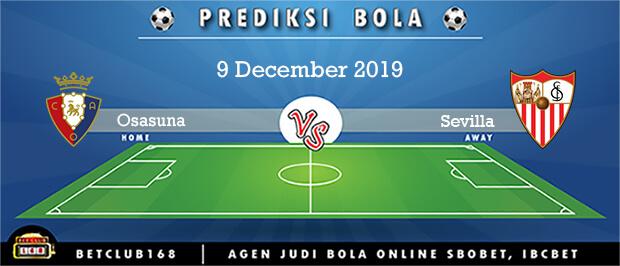 Prediksi Osasuna Vs Sevilla 9 December 2019