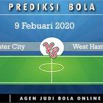 Prediksi Manchester City Vs West Ham United 9 Febuari 2020