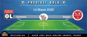 Prediksi Olympique Lyonnais Vs Reims 14 Maret 2020